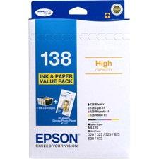 Epson DURABrite Ultra 138 Original Ink Cartridge - Black, Cyan, Magenta, Yellow