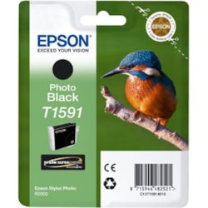 Epson UltraChrome Hi-Gloss2 T1591 Original Ink Cartridge - Photo Black