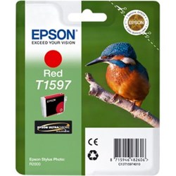 Epson UltraChrome Hi-Gloss2 T1597 Original Ink Cartridge - Red