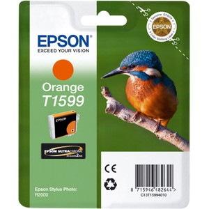 Epson UltraChrome Hi-Gloss2 T1599 Original Ink Cartridge - Orange