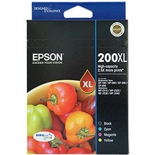 Epson DURABrite Ultra 200XL Original Ink Cartridge - Black, Cyan, Magenta, Yellow