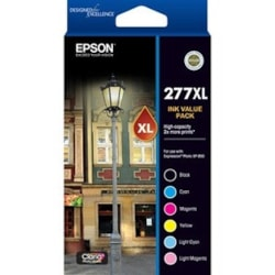Epson 277XL Ink Cartridge - Black, Cyan, Magenta, Yellow, Light Cyan, Light Magenta