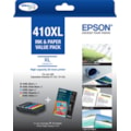 Epson Claria Premium 410XL Ink Cartridge/Paper Kit - Photo Black, Black, Magenta, Yellow, Cyan
