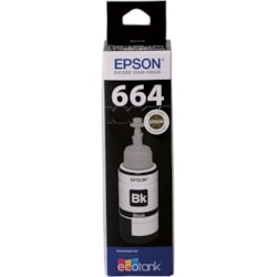 Epson T664 Ink Refill Kit - Black - Inkjet