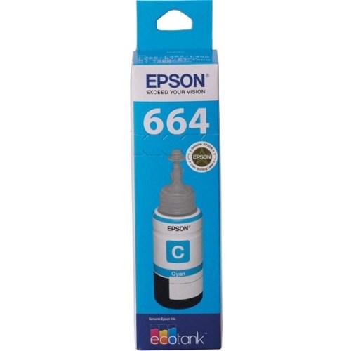 Epson T664 Ink Refill Kit - Cyan - Inkjet