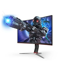 "AOC C27G2 68.6 cm (27"") Full HD Curved Screen Gaming LCD Monitor - 16:9 - Black, Red"