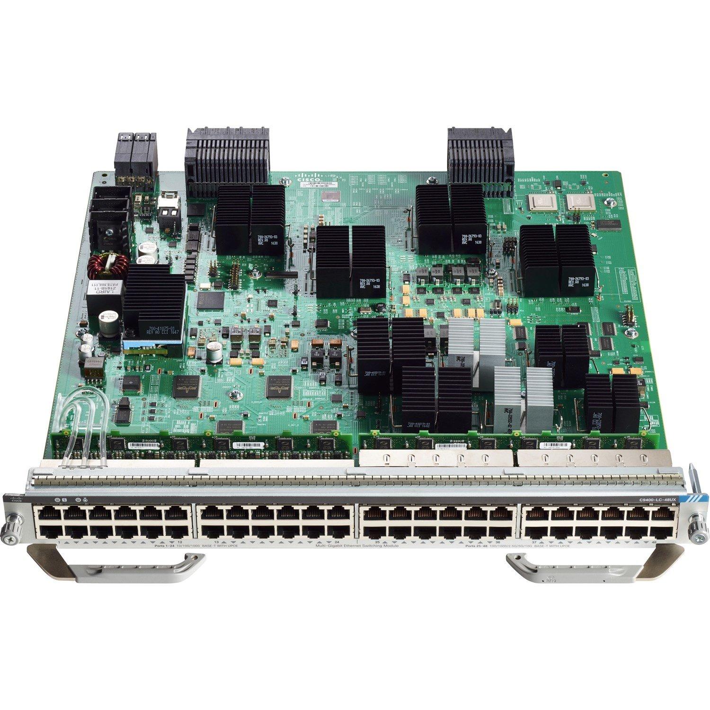 Cisco C9400-LC-48UX Expansion Module - 24 RJ-45 10GBase-T UPoE LAN, 24 RJ-45 10/100/1000Base-T UPoE LAN