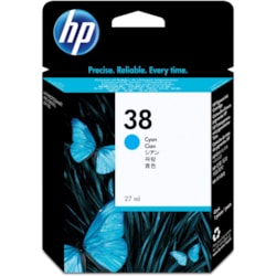 HP 38 Ink Cartridge - Pigment Cyan