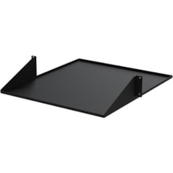 StarTech.com 2U Rack-mountable Rack Shelf for LAN Switch, Patch Panel, Server - 482.60 mm Rack Width - Black
