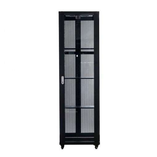 Serveredge 42U Floor Standing Rack Cabinet for Server - Black