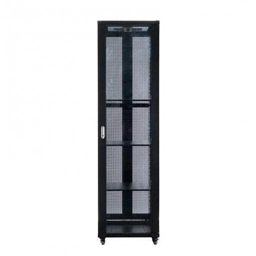 Serveredge 45U Floor Standing Rack Cabinet for Server, A/V Equipment - Black