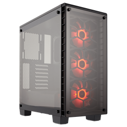 Corsair Crystal 460X Computer Case - Mini ITX, Micro ATX, ATX Motherboard Supported - Mid-tower - Steel - Black - 7.97 kg