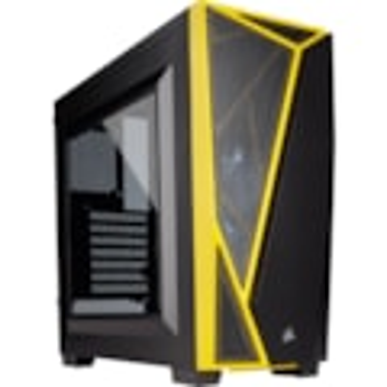 Corsair Carbide Spec-04 Computer Case - Mid-tower - Black, Yellow