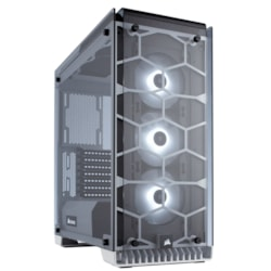 Corsair Crystal 570X Computer Case - ATX, Mini ITX, Micro ATX Motherboard Supported - Mid-tower - Steel, Tempered Glass - White - 10.90 kg