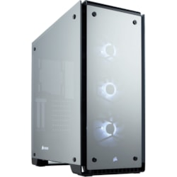 Corsair Crystal 570X Computer Case - Mini ITX, ATX, Micro ATX Motherboard Supported - Mid-tower - Steel - Black - 10.76 kg