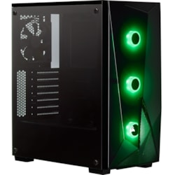 Corsair Carbide SPEC-DELTA Gaming Computer Case - Mini ITX, Micro ATX, ATX Motherboard Supported - Mid-tower - Steel, Tempered Glass - Black - 6.35 kg