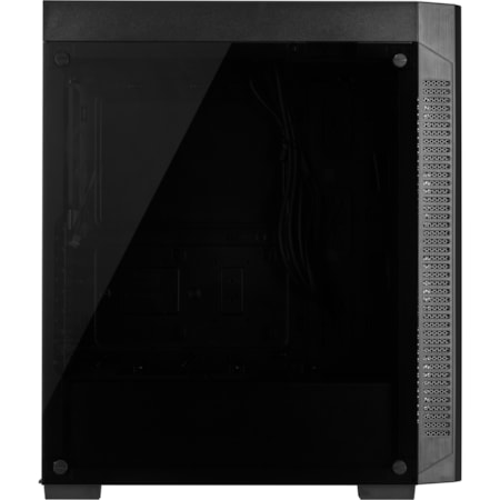 Corsair 110R Gaming Computer Case - ATX, Micro ATX, Mini ITX Motherboard Supported - Mid-tower - Steel, Plastic, Tempered Glass - Black - 6.45 kg