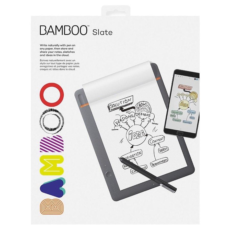 Wacom Bamboo Slate CDS610S Wireless - Digital Notepad - Orange, Medium Grey