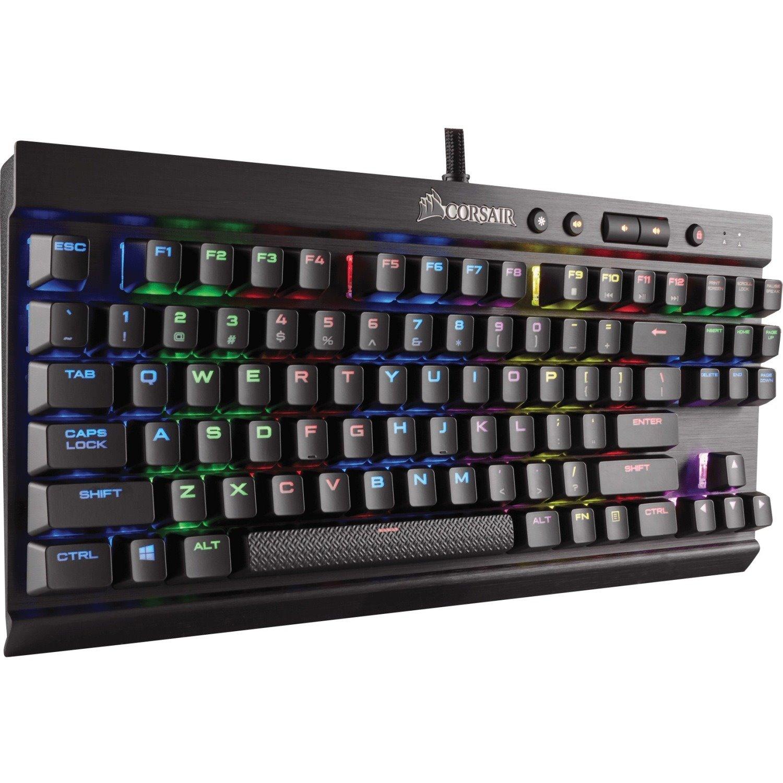 Corsair RAPIDFIRE K65 Mechanical Keyboard - Cable Connectivity - Black