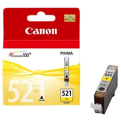 Canon CLI-521Y Original Ink Cartridge - Yellow