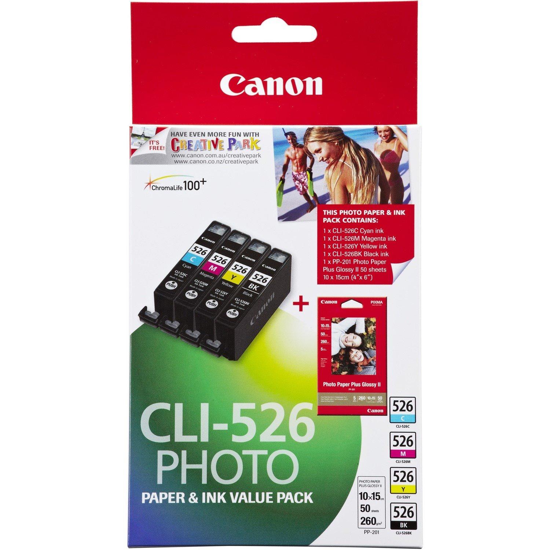 Canon CLI526VP Original Ink Cartridge - Cyan, Magenta, Yellow, Black