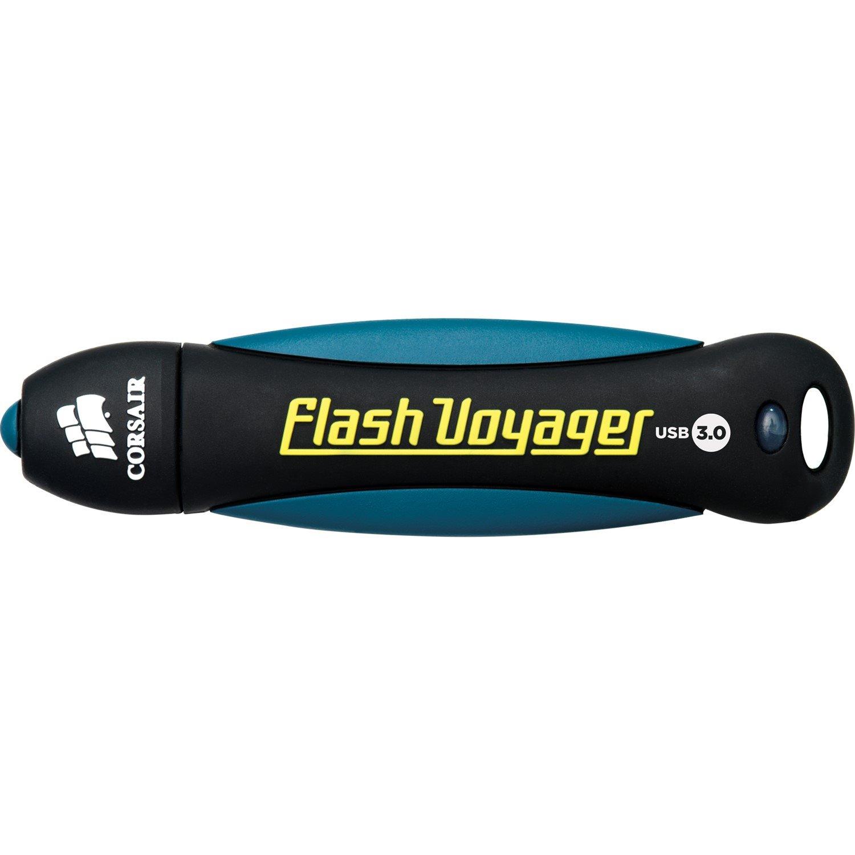 Corsair Flash Voyager 64 GB USB 3.0 Flash Drive - Black, White