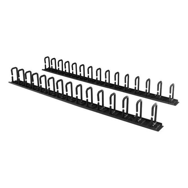 StarTech.com Cable Organizer - Black - 2 Pack