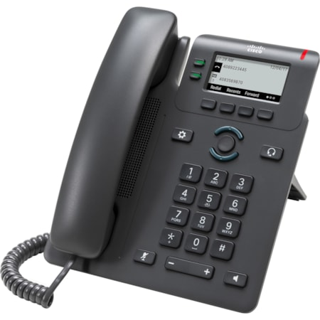 Cisco 6821 IP Phone - Corded - Corded - Wall Mountable, Desktop