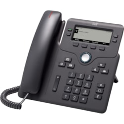 Cisco 6841 IP Phone - Corded - Corded - Wall Mountable, Desktop - Charcoal