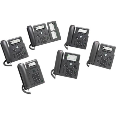 Cisco 6871 IP Phone - Corded - Corded/Cordless - Wi-Fi - Wall Mountable