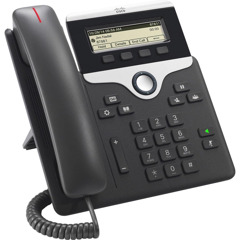 Cisco 7811 IP Phone - Wall Mountable, Desktop - Charcoal