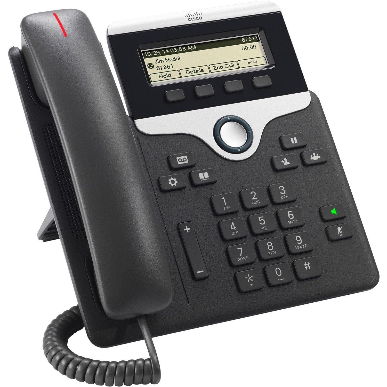 Cisco 7811 IP Phone - Corded - Wall Mountable - Charcoal