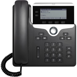 Cisco 7821 IP Phone - Wall Mountable - Black