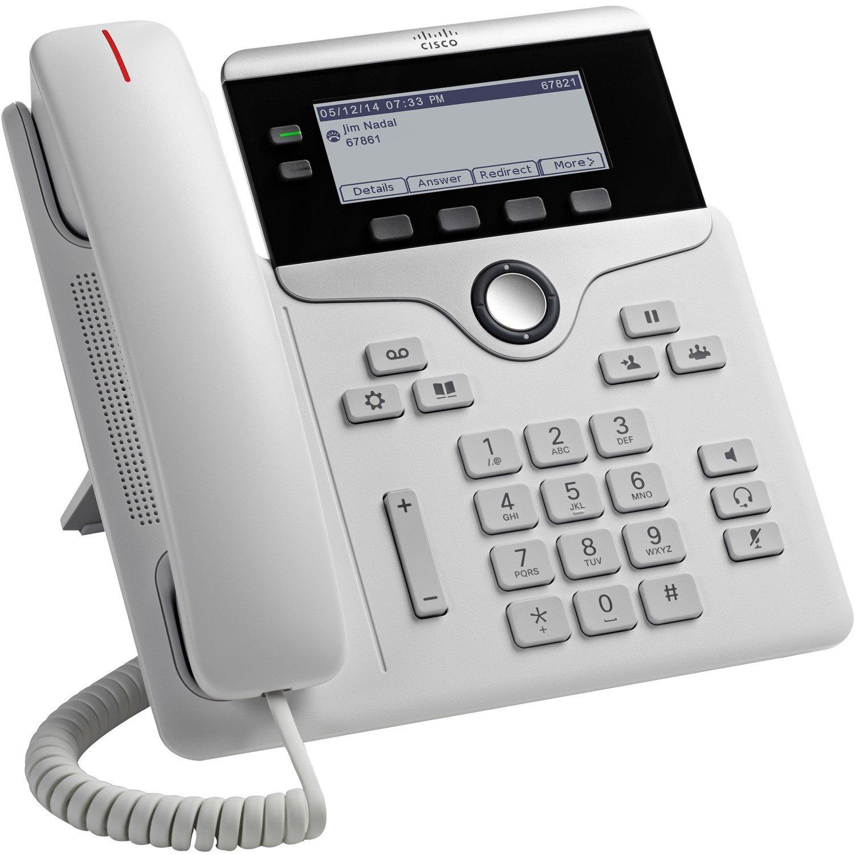 Cisco 7821 IP Phone - Wall Mountable, Desktop - White