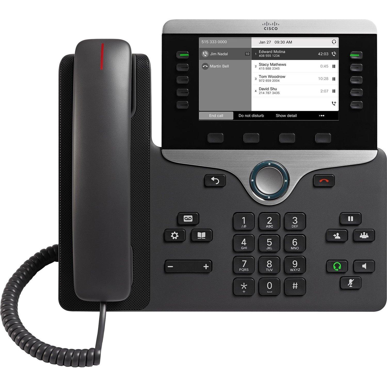 Cisco 8811 IP Phone - Wall Mountable, Desktop - Charcoal