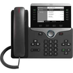 Cisco 8811 IP Phone - Wall Mountable - Black