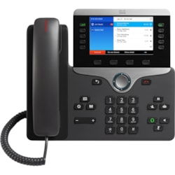 Cisco 8841 IP Phone - Remanufactured - Corded - Corded - Wall Mountable - Black, Silver