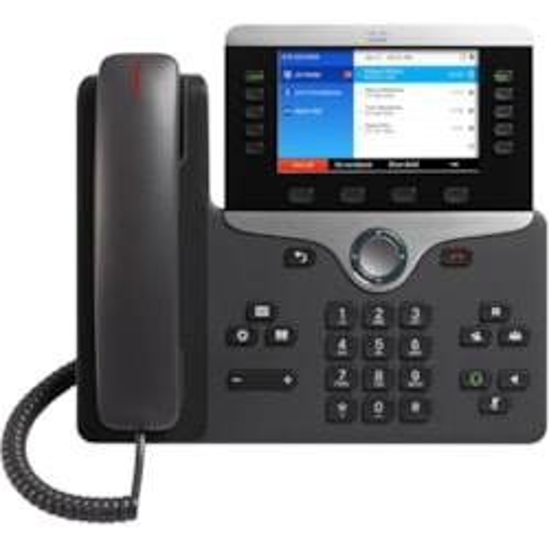 Cisco 8851 IP Phone - Bluetooth - Desktop, Wall Mountable - Charcoal