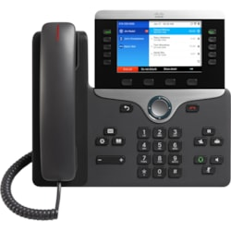 Cisco 8861 IP Phone - Corded/Cordless - Corded - Wall Mountable, Desktop - Charcoal