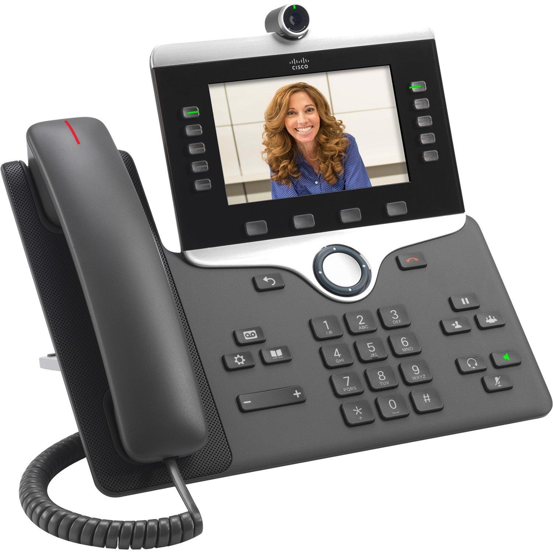 Cisco 8865 IP Phone - Corded/Cordless - Corded/Cordless - Wi-Fi, Bluetooth - Desktop, Wall Mountable