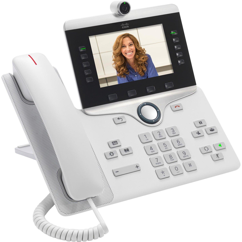Cisco 8865 IP Phone - Wall Mountable, Desktop - White