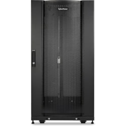 CyberPower Carbon CR24U11001 24U High x 482.60 mm Wide x 904.24 mm Deep Rack Cabinet for Server, LAN Switch, Patch Panel - Black Powder Coat