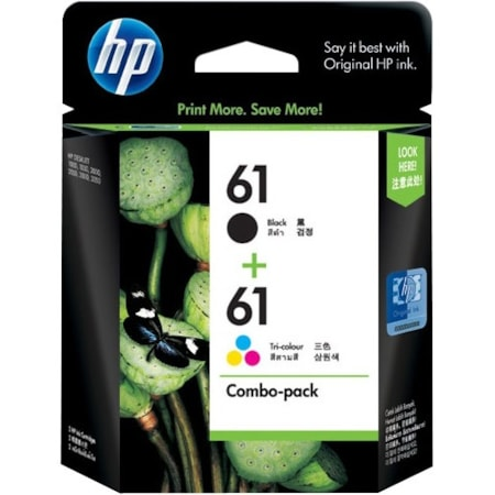 HP 61 Original Ink Cartridge Combo Pack - Black, Cyan, Magenta, Yellow