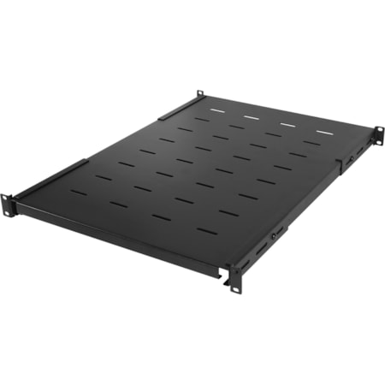 CyberPower Carbon CRA50005 1U High x 482.60 mm Wide x 830.58 mm Deep Rack-mountable Rack Shelf for Monitor, Server - Black