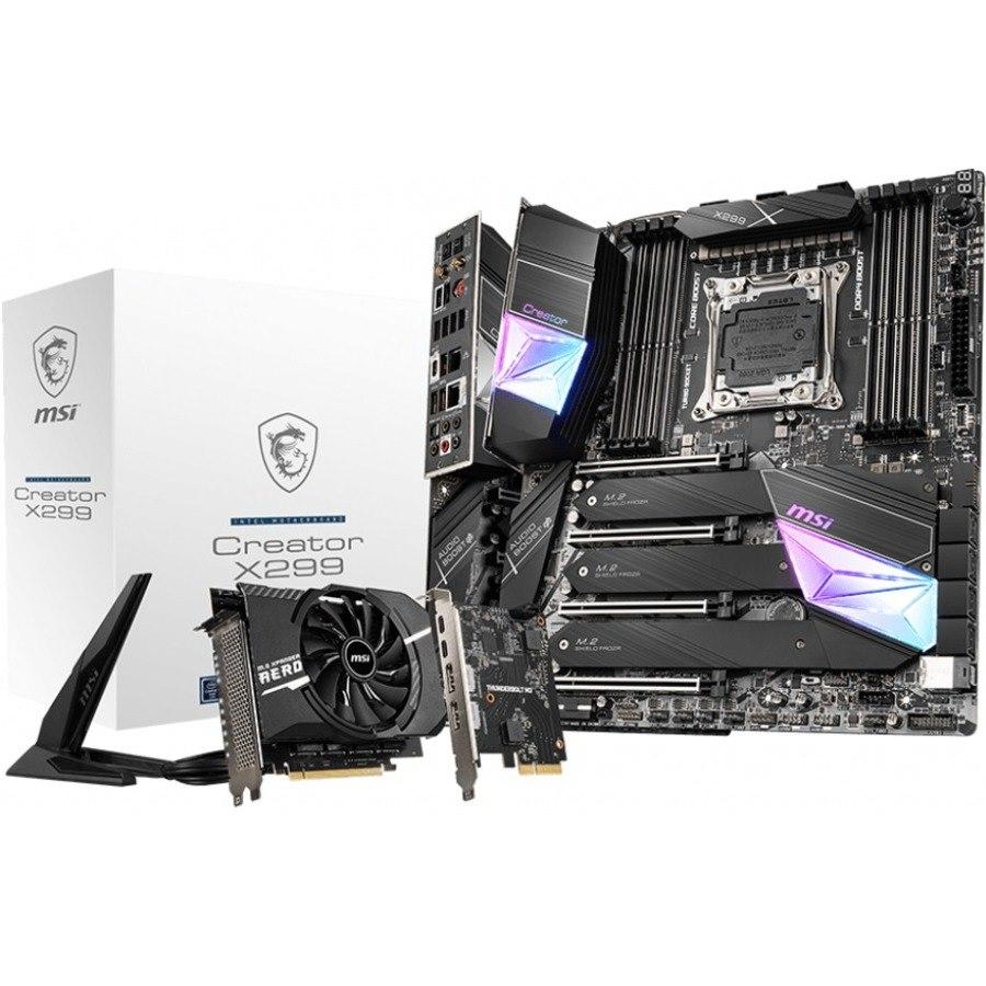 MSI Creator X299 Desktop Motherboard - Intel Chipset - Socket R4 LGA-2066