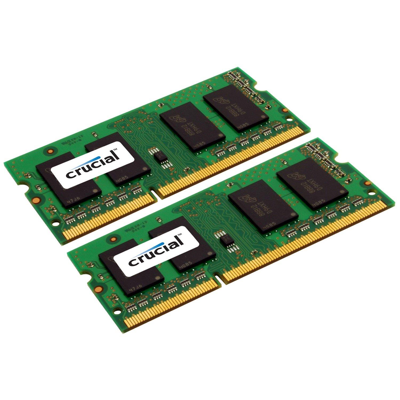 Crucial RAM Module for Notebook, Desktop PC - 16 GB (2 x 8 GB) - DDR3-1333/PC3-10600 DDR3 SDRAM - CL9 - 1.35 V