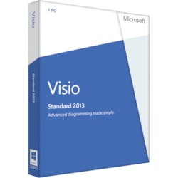 Microsoft Visio 2013 Standard 32/64-bit - Complete Product - 1 PC - Standard