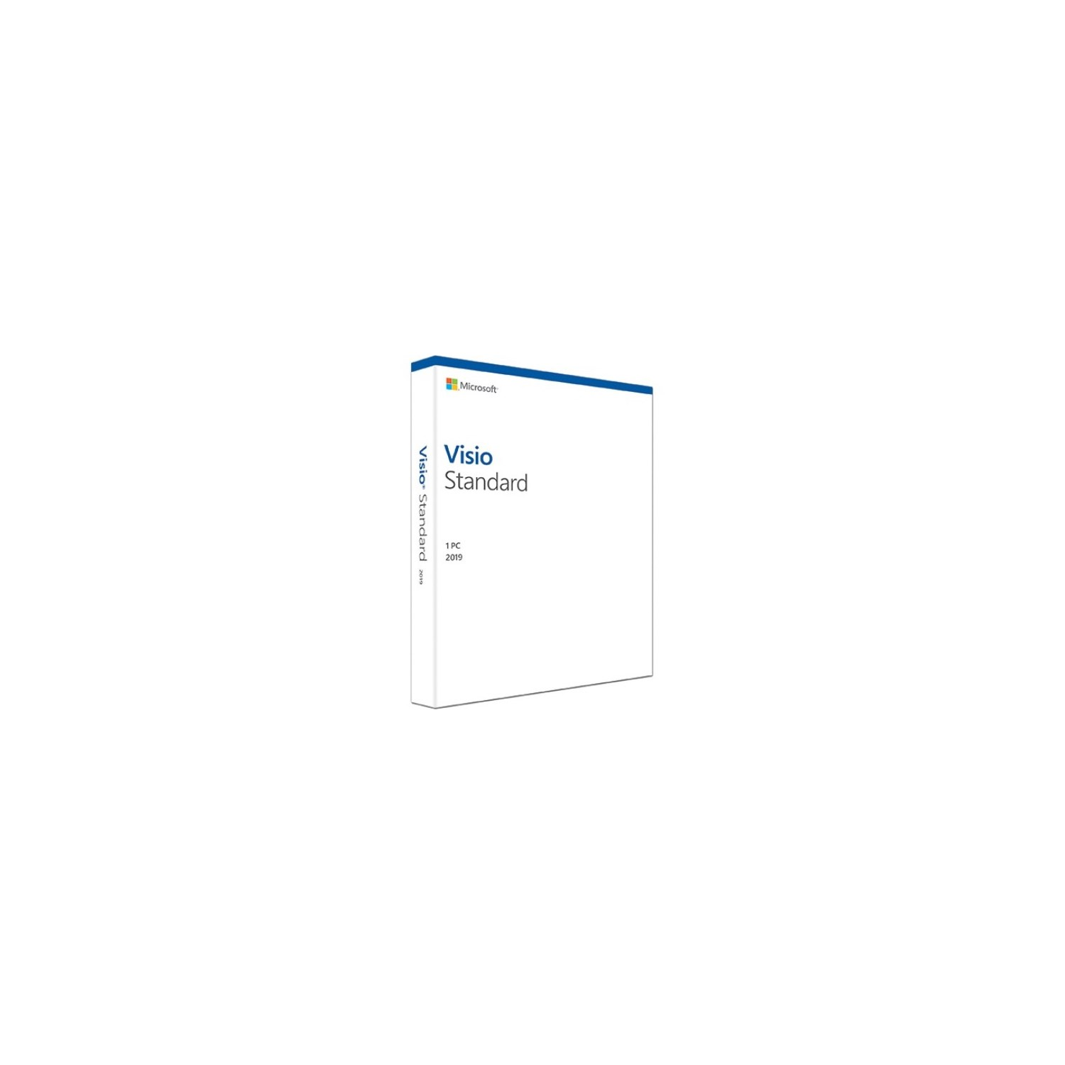 Microsoft Visio 2019 Standard for Windows 10 - Box Pack - 1 PC - Medialess