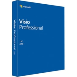 Microsoft Visio 2019 Professional for Windows 10 - Box Pack - 1 PC - Medialess