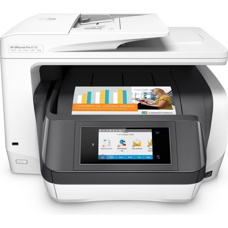 HP Officejet Pro 8730 Inkjet Multifunction Printer - Colour
